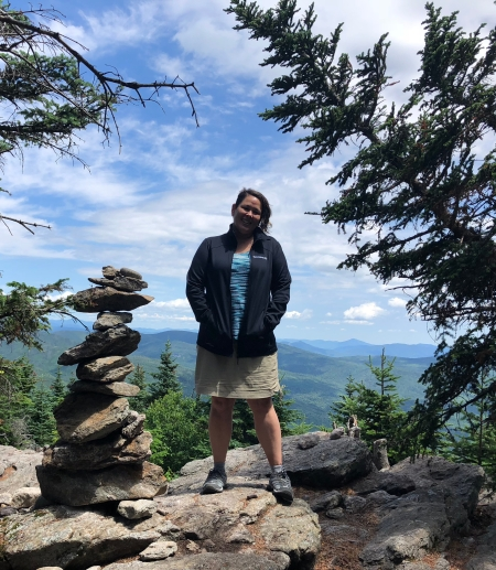 Me at the summit of Mt. Tecumseh
